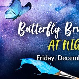 Butterfly Brushstrokes at Night
