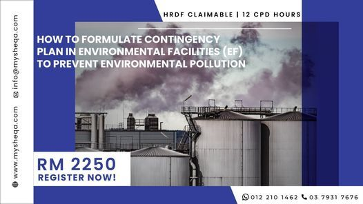 How to Formulate Contingency Plans in Environmental Facilities, 14 December | Event in Miri | AllEvents.in