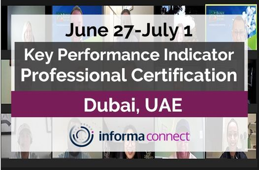 KPI Professional Certification, 27 June | Event in Dubai | AllEvents.in