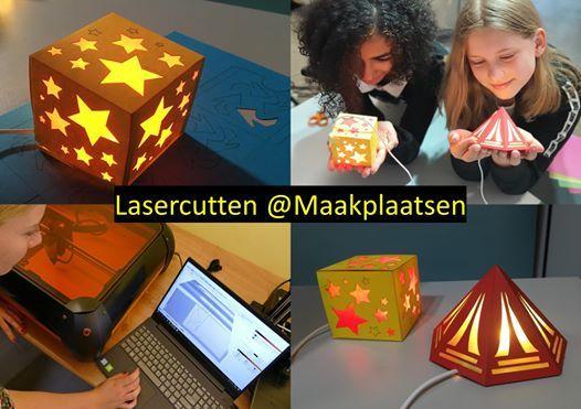 High Tech workshops Lasercut je eigen lamp (6-12 jaar)
