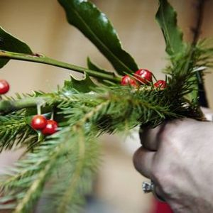 Christmas Wreath Making and Decorations