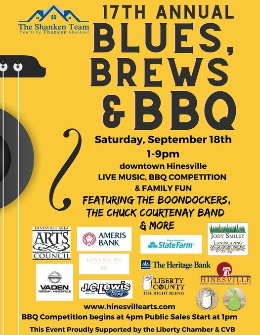 17th Annual Blues, Brews & BBQ   Event in Hinesville   AllEvents.in