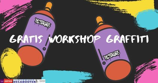 Gratis Workshop Graffiti, 18 November | Event in Kortrijk | AllEvents.in