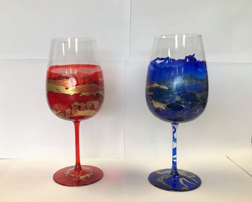 Wine Tasting & Glass Painting, 13 February   Online Event   AllEvents.in