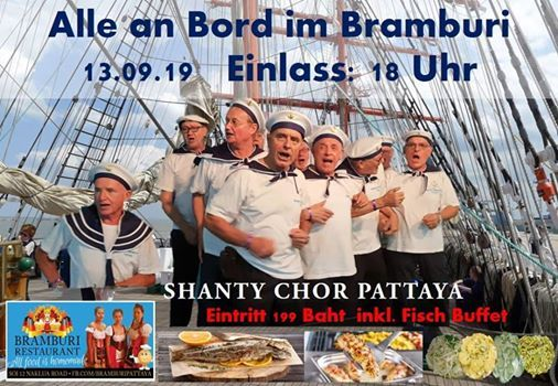 Shanty Chor im Bramburi & Fischbuffet 199 Baht