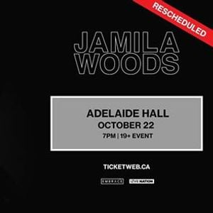 Jamila Woods at Adelaide Hall  Oct 22