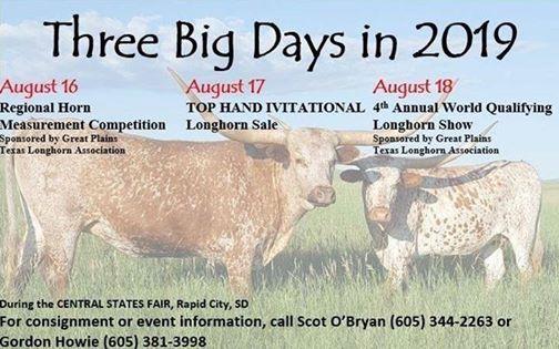 Central States Fair Longhorn Events