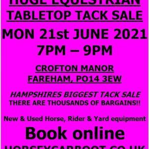 Tack Sale Crofton Manor Mon 21st June 2021