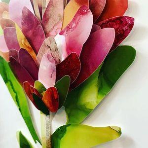 Collage Flower Artwork