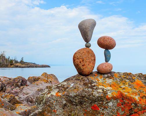 Stone Balancing At Marine Mills Folk School Marine On Saint Croix