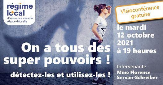 "Conférence ""on a tous des super pouvoirs"", 12 October | Online Event | AllEvents.in"