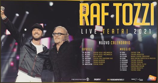 Raf Tozzi - Trieste   Live Teatri 2021, 20 December   Event in Trieste   AllEvents.in