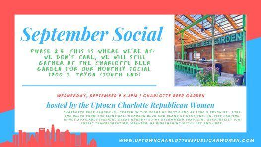 Uptown Women September Social Charlotte Beer Garden 9 September 2020