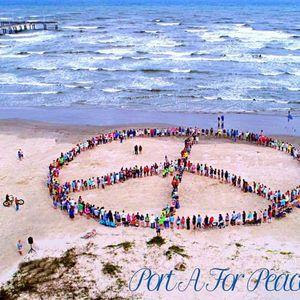 Earth Day Human Peace Sign Celebration