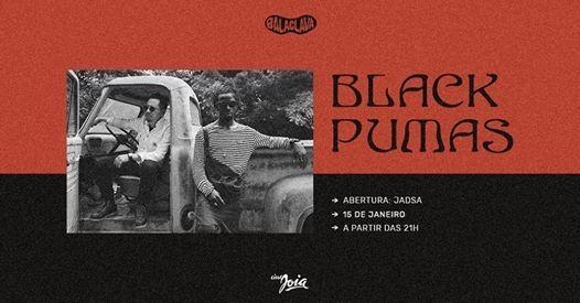 Balaclava apresenta Black Pumas (EUA) e Jadsa no Cine Joia
