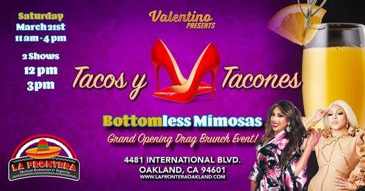 Valentine's Day Tacos y Tacones - Drag Brunch, 11 September | Event in Oakland | AllEvents.in