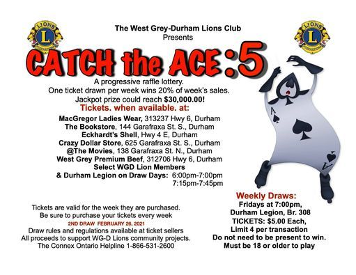 WGDL Catch the Ace: 5, 16 April | Event in Durham | AllEvents.in