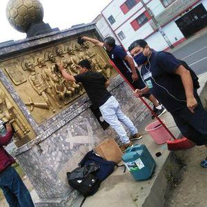 Limpieza y mantenimiento Monumento Aliancista LaGloriaEsDeTodos