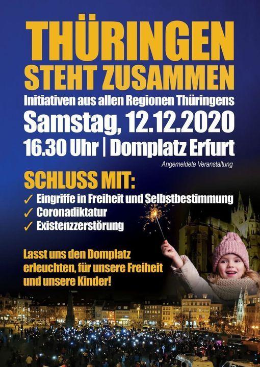 THÜRINGEN STEHT ZUSAMMEN, 12 December | Event in Erfurt | AllEvents.in