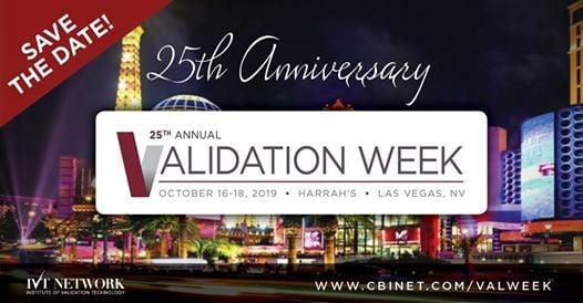 25th Annual Validation Week