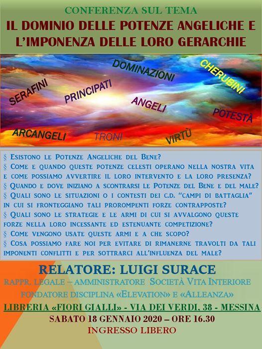 Fiori Gialli Libreria Messina.Conferenza Sul Dominio Delle Potenze Angeliche E Loro Gerarchie At