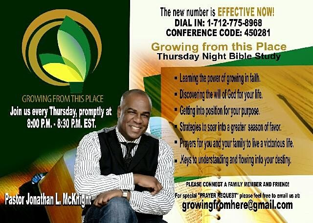 Growing From This Place Conference Call With Dr. Jonathan McKnight