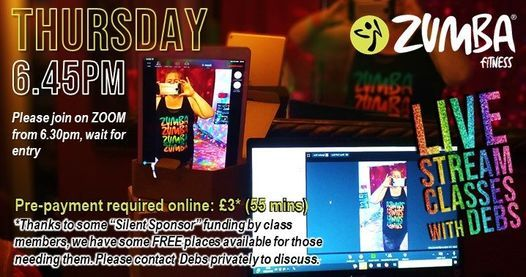 THURSDAY ZOOM ZUMBA®Livestream with Debs | Online Event | AllEvents.in