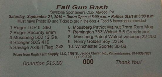 Fall Gun Bash at Keystone Sportsmen's Club, Creekside