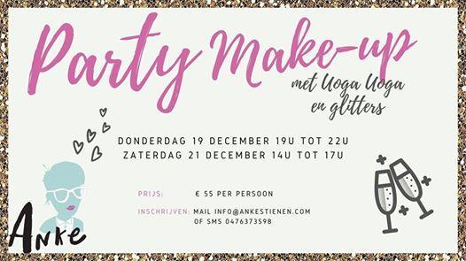 Workshop Party Make-up met UogaUoga en glitters