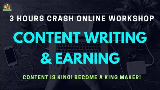Content Writing & Earning Certification Online Workshop, 31 January | Online Event | AllEvents.in