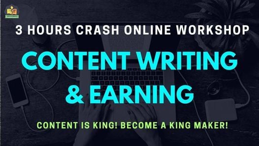 Content Writing & Earning Certification Online Workshop, 28 March | Online Event | AllEvents.in