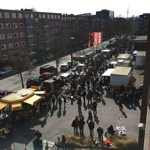 Flohmarkt bei REWE in HH-Winterhude