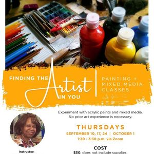 Finding the Artist in You Painting & Mixed Media Classes