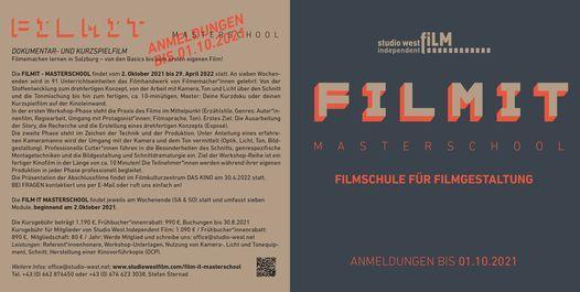 Film It - Masterschool - Modul 4, 6 November | Event in Salzburg | AllEvents.in