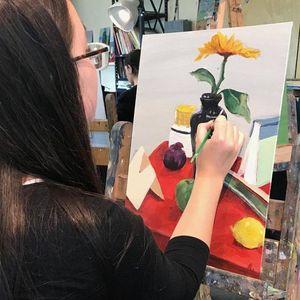Oil & Acrylic Easel Painting II