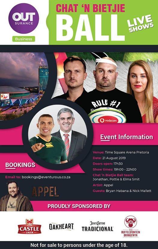 Chat n Bietjie Ball  Time Square Arena Pretoria  21 Augustus