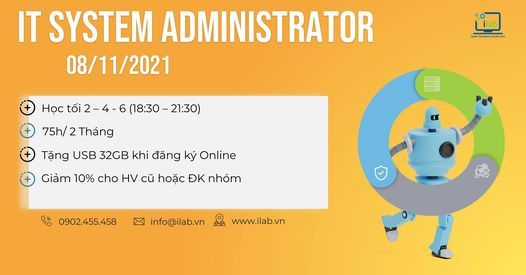 Khóa học IT SYSTEM ADMINISTRATOR, 8 November | Event in Ho Chi Minh City | AllEvents.in