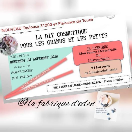 atelier fait mains : diy cosmetiques, 25 November | Event in Toulouse | AllEvents.in