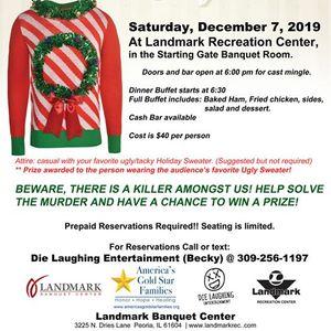 Mder Mystery Dinner Holiday themed - Fundraiser