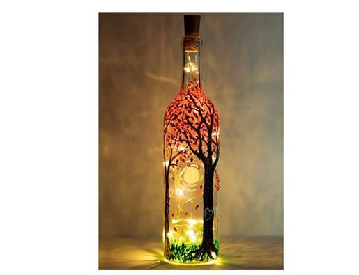 Paint Your Own Wine Bottle In Keene At Thirsty Owl!