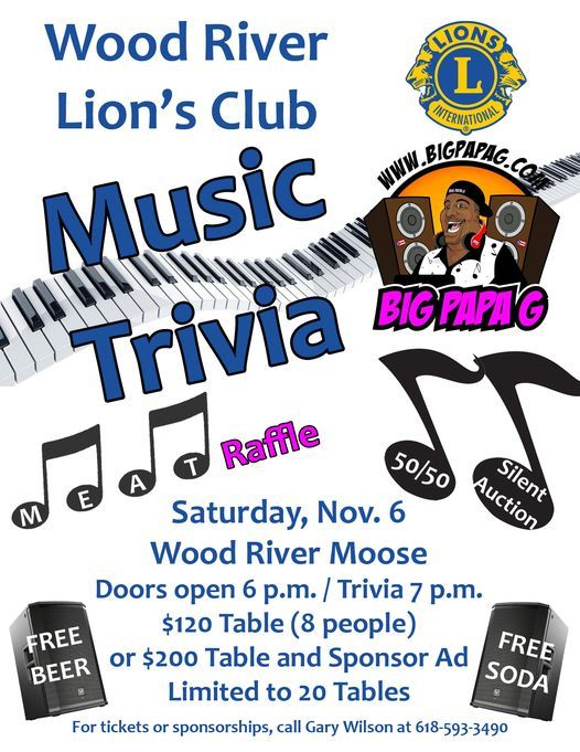 Music Trivia Night, 6 November | Event in Wood River | AllEvents.in