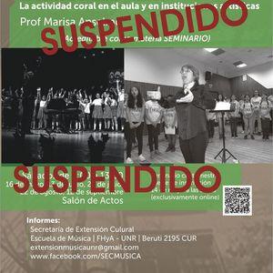 Suspendido El Coro de Nias y Nios. Prof. Marisa Anselmo