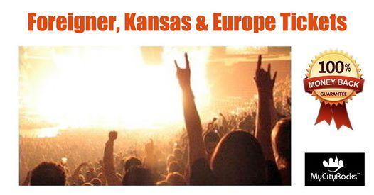 Foreigner Kansas & Europe Tickets Chula Vista NICU Amphitheatre