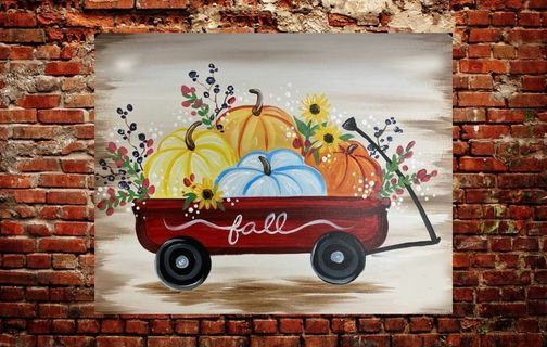 Fall Pumpkins Paint & Sip Class @ Artsy Fartsy, 8 October   Event in Kewaskum   AllEvents.in