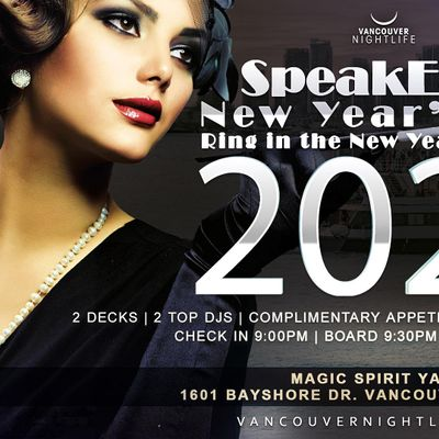 Vancouver New Years Eve Speakeasy Cruise 2021 at Magic Spirit Yacht, Vancouver