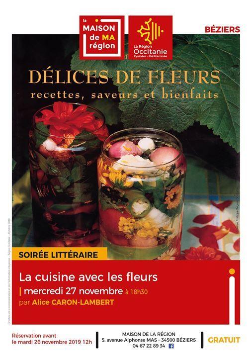Soiree Litteraire La Cuisine Avec Les Fleurs At Maison De Ma