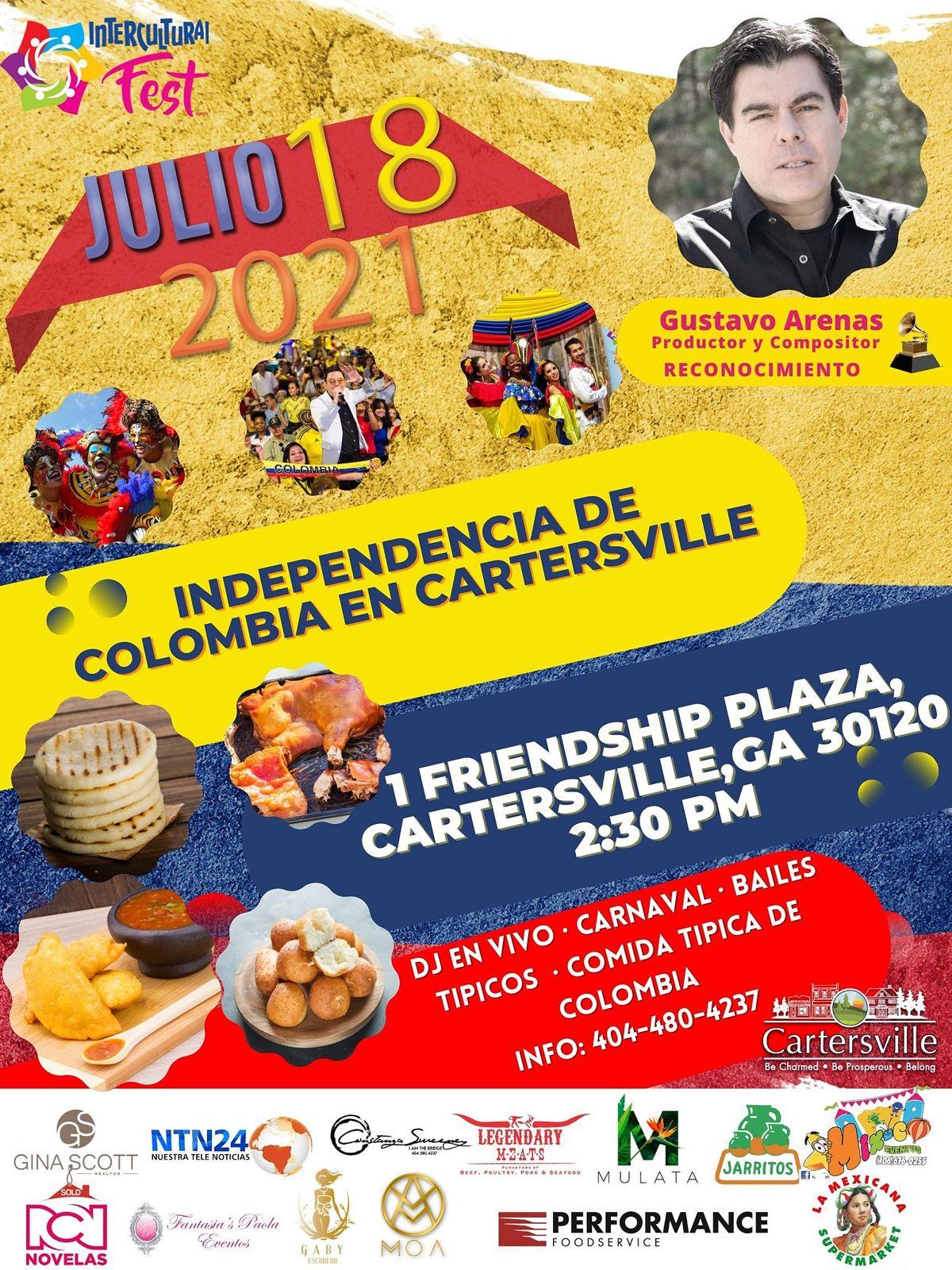 Independencia De Colombia en Cartersville  Gratis! Entrada Free! | Event in Cartersville | AllEvents.in