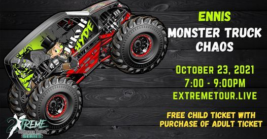 Ennis Monster Truck Chaos 2021, 23 October | Event in Ennis | AllEvents.in