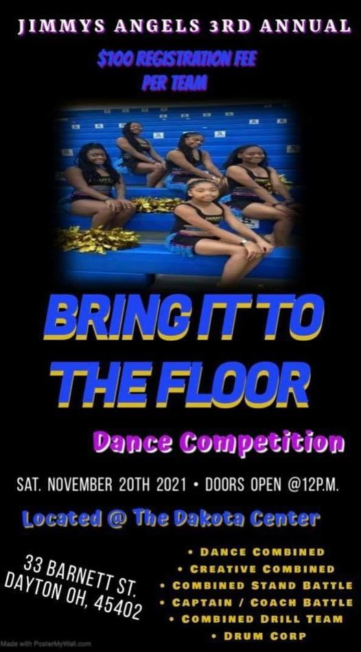 Jimmys Angels 3rd Annual Bring it to the Floor Competition, 20 November | Event in Dayton | AllEvents.in