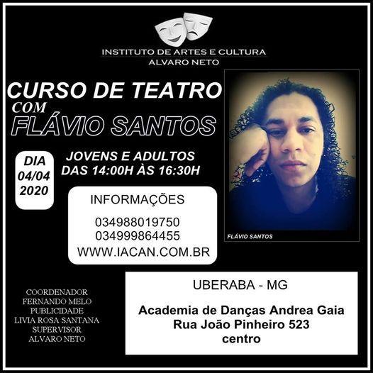 Curso de Teatro com o ator e diretor Flvio Santos